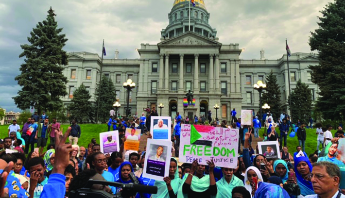Sudanese Community Rallies Outside State Capitol