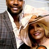 Morris Chestnut poses with DUS publisher, Bee Harris